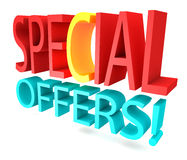 Special offers 3D text.  Stock Photos