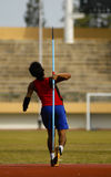 SPECIAL OLYMPIC TARGET. An Indonesian disabled athlete or paralympian at Solo, Java, Indonesia. Indonesia is targetting 15 gold medals on The 2015 Special Stock Image
