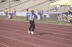 Special Olympics athletes running race, Royalty Free Stock Photo