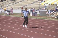Special Olympics athletes running race, UCLA, CA Royalty Free Stock Photos