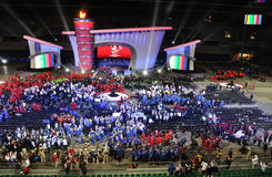 Special Olympics European Summer Games. The Special Olympics European Summer Games Opening Ceremony at the Legia Stadium in Warsaw. Photo taken on: September 18 Stock Images
