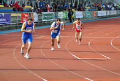 Special Olympics European Summer Games. Runners competing at 800 m during the Special Olympics European Summer Games in Warsaw. Photo taken on: September 20 Stock Photo