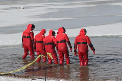 Special Olympics Nebraska Polar Plunge Safety Divers Royalty Free Stock Photo