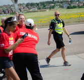 2015 Special Olympics Unified Relay Across America coming to an end Royalty Free Stock Photos