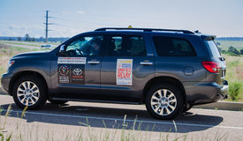2015 Special Olympics Unified Relay Vehicle across America Stock Photography