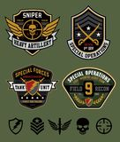 Special Ops Patch Set Royalty Free Stock Photos