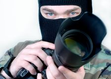 Special Ops Photographer. 2. Special Ops Photographer. Focus on the eyes 2 Royalty Free Stock Image