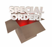 Special Order Custom Product Made for You Box. 3d Illustration Royalty Free Stock Image