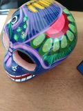 a special painted skull decoration royalty free stock photo