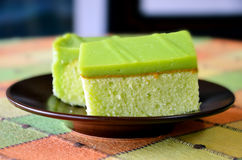 Special Pandan Cake Royalty Free Stock Photos