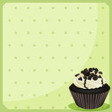 A special paper with dots and a cupcake Stock Photography