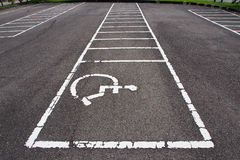 Special Parking Lot for handicap.  Royalty Free Stock Photo