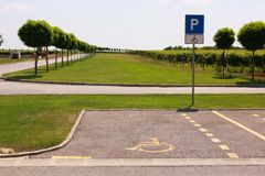 Special parking. Space. Marked space royalty free stock photography