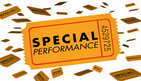 Special Performance Concert Theatre Play Recital Ticket Stock Image