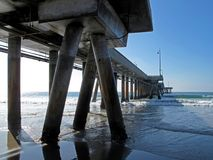 Special perspective of Venice Pier in Venice Beach, California. USA Royalty Free Stock Photography