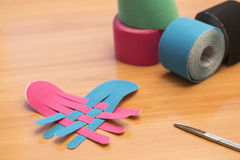 Special physio tape rolling Royalty Free Stock Images