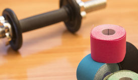 Special physio tape rolling Stock Photos