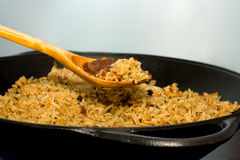 Special Pilau. Special Pilau in the cauldron Stock Images