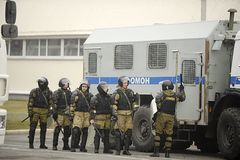 The special police force of the OMON stock images