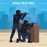 Special Police Force Vector Illustration Stock Photo