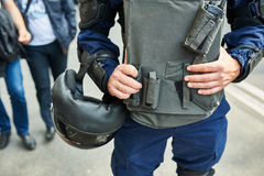 Special police forces cordon at the demonstration Stock Image