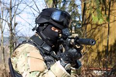 Special police unit, masked police Royalty Free Stock Photo