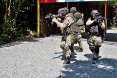 Special police unit in training Stock Images