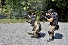 Special police unit in training Stock Photography