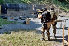 Special police unit in training Royalty Free Stock Images