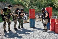 Special police unit in training. School Stock Photo