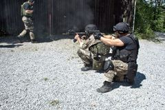 Special police unit in training. School Stock Photos