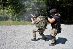 Special police unit in training. School, meeting Stock Photography