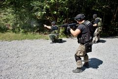 Special police unit in training. School, meeting Stock Photos