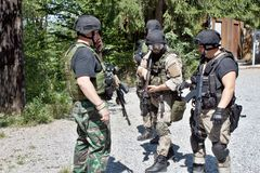 Special polisenhet i utbildning Royaltyfria Bilder