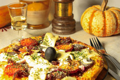 Special potato base pizza royalty free stock images