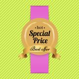 Special Price Best Offer Hot Golden Label Seal Royalty Free Stock Image
