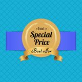 Special Price Best Offer Hot Golden Label Seal Stock Images