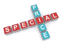 Special price crossword graphic Stock Photos