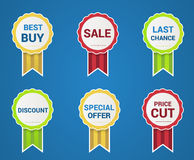 Special price and quality tags Royalty Free Stock Photo