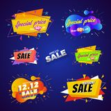 Special price sale banner abstract design. Vector illustration stock illustration