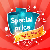 Special price. Sale banner. Advertising flyer for commerce, discount and offer Stock Photos