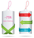 Special price tags. Christmas edition Royalty Free Stock Photo