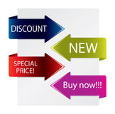 Special promotion arrows Royalty Free Stock Photo