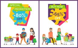Special Promotion Buy Now Vector Illustration Royalty Free Stock Photography