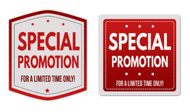 Special promotion stickers set Stock Images