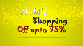 Special promotional mobile shopping sale backdrop graphic illustration. Royalty Free Stock Image