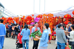 Special purchases for the Spring Festival Market Royalty Free Stock Photos
