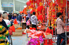 Special purchases for the Spring Festival Market Stock Images