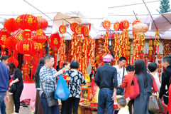 Special purchases for the Spring Festival Market Stock Image