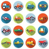 Special purpose cars and machinery vector icons Stock Photography